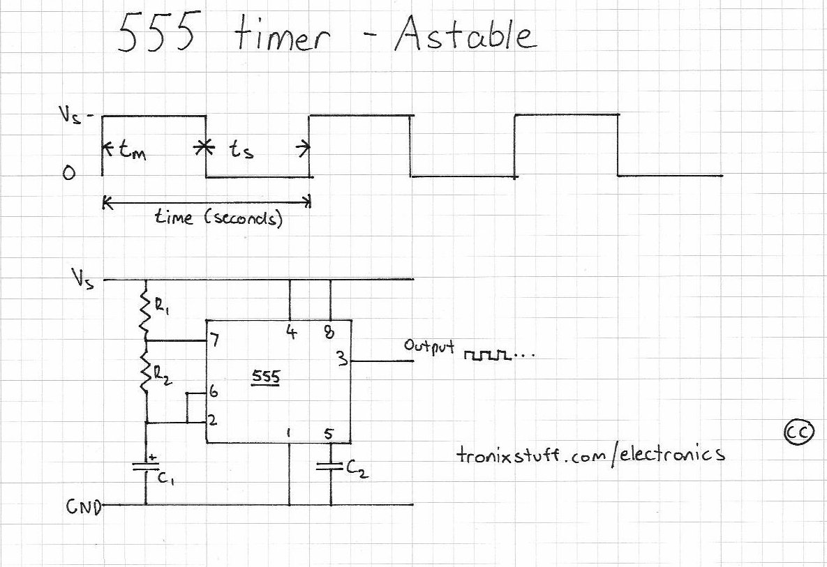 Resistor Capacitor Planetarduino Electronix The Alternating Led Flasher Circuit With A 555 Ic For More Information On Timer Please Read This Article