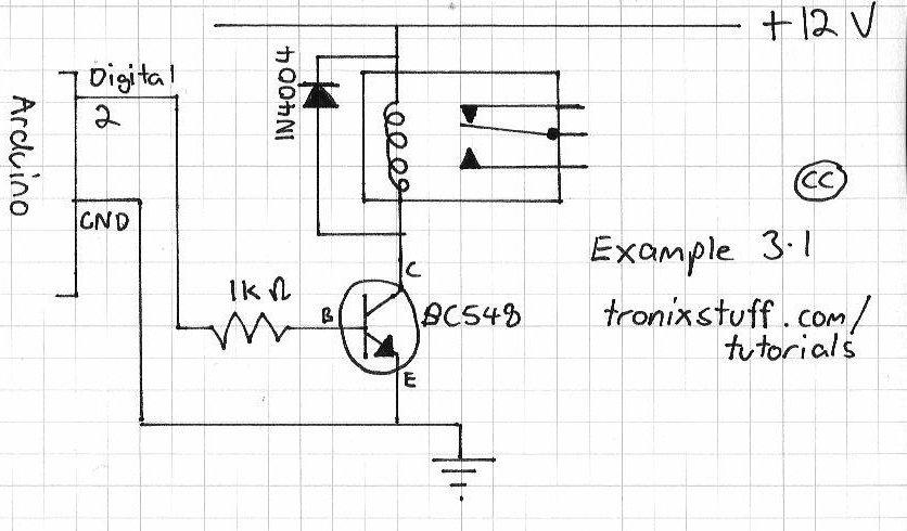 Control a v ac amp relay with arduino