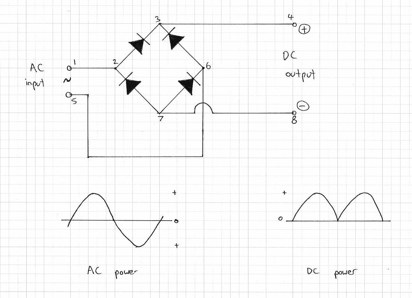 Simple Power Saver Circuit moreover Mains Operated Led L further 5kva Ferrite Core Inverter Circuit likewise Trickle Charger 12 Volt Or 6 Volt moreover . on bridge rectifier circuit diagram 8