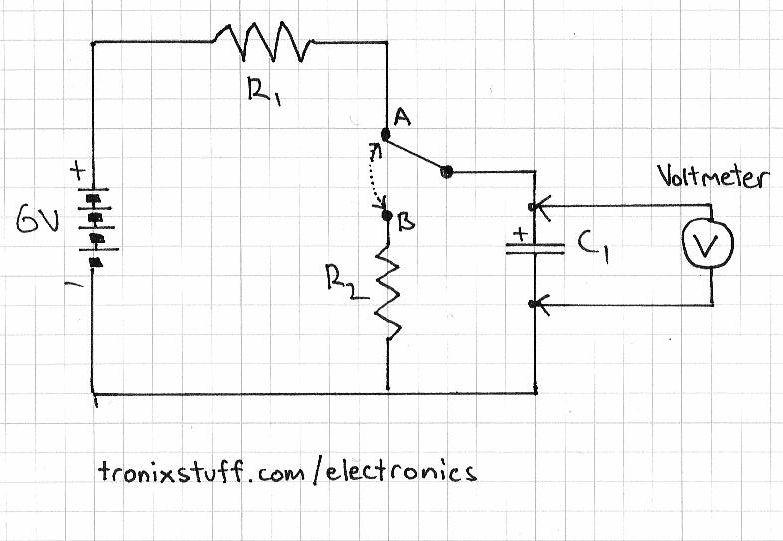 rc circuit planetarduino rh planetarduino org LM555 Timer Circuit Schematics transistor capacitor timer circuit