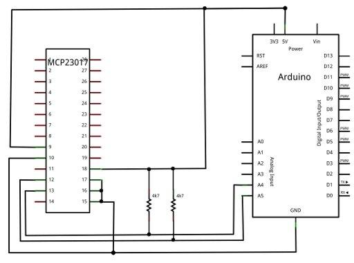 arduino con rtc e mcp23017