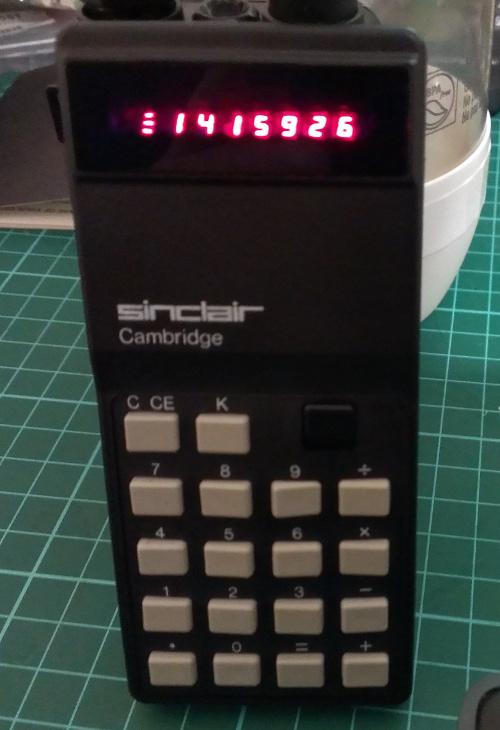 Sinclair Cambridge Calculator