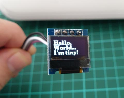 "0.49"" 64 x 32 White Graphic OLED - I2C from PMD Way with free delivery worldwide"